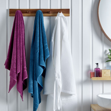 Luxury towels and bathrobes for hotels and hospitality from Out of Eden