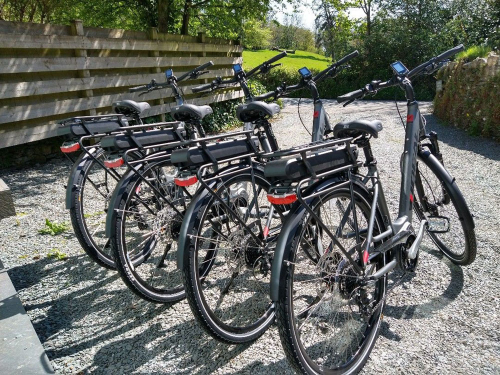 eBikes for hire at Matson Ground Estates, Windermere